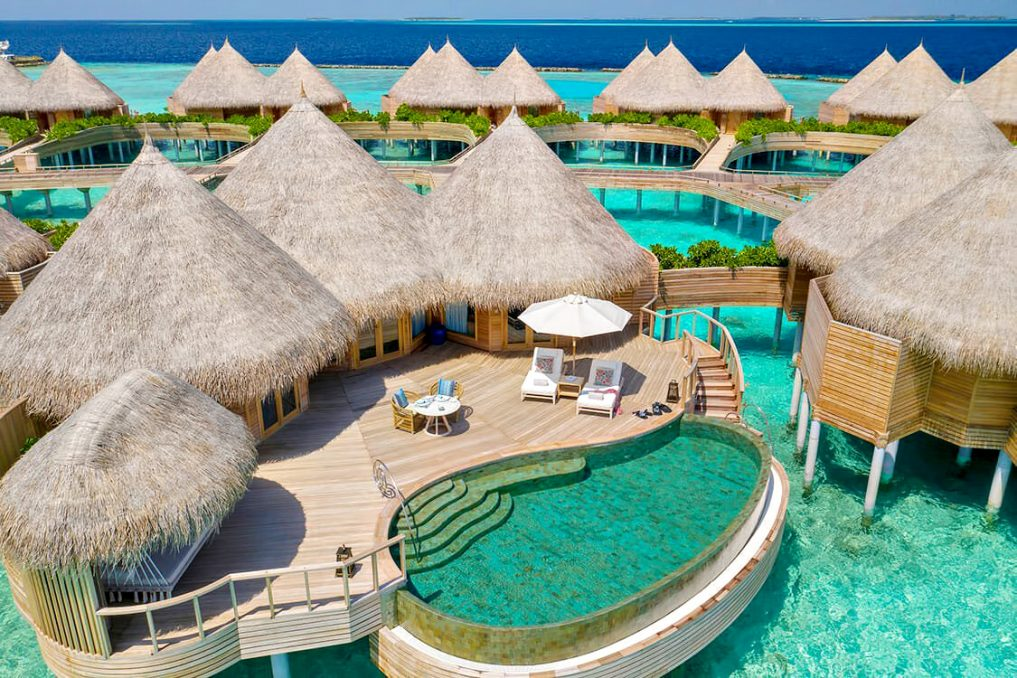 The Nautilus Maldives Luxury Resort - Thiladhoo Island, Maldives - Ocean Residence Private Pool Aerial