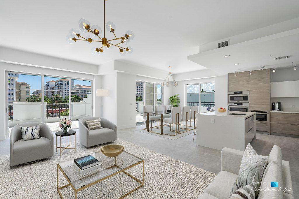 Boca Tower 155 Luxury Condo - Unit 416, 155 E Boca Raton Rd, Boca Raton, FL, USA - Living Room