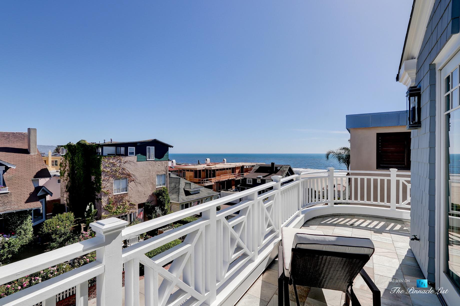 Coastal Oceanview Luxury Retreat – 125 8th St, Manhattan Beach, CA, USA – Balcony View
