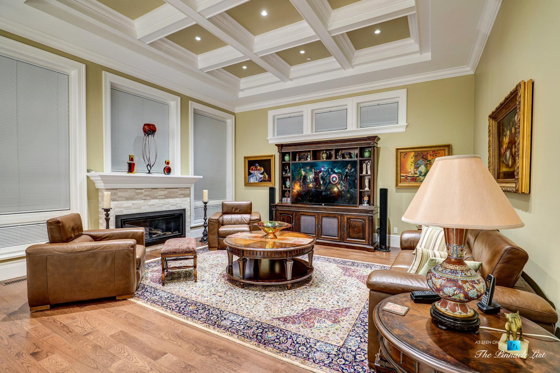 Pinnacle Ridge Luxury Estate – 2057 Ridge Mountain Dr, Anmore, BC, Canada – Family Room