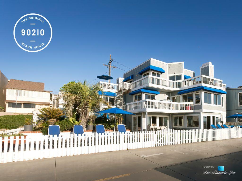 The Original 90210 Beach House - 3500 The Strand, Hermosa Beach, CA, USA - Front View