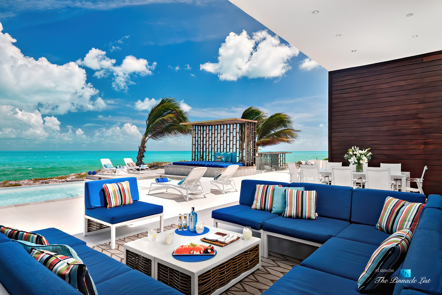 Tip of the Tail Luxury Villa – Providenciales, Turks and Caicos Islands – Infinity Pool Deck