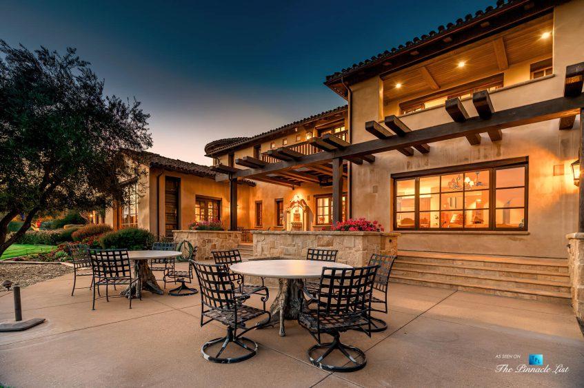 2667 Via De Los Ranchos, Los Olivos, CA, USA - Exterior Back Deck Sunset
