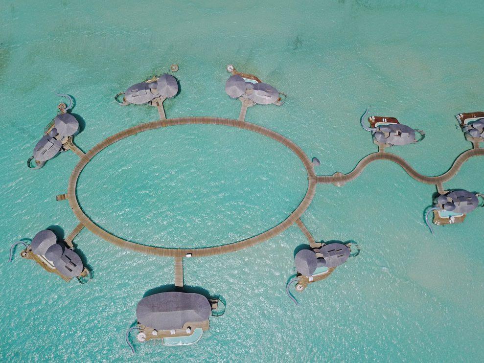Soneva Jani Luxury Resort - Noonu Atoll, Medhufaru, Maldives - 4 Bedroom Water Reserve Villas Overhead Aerial