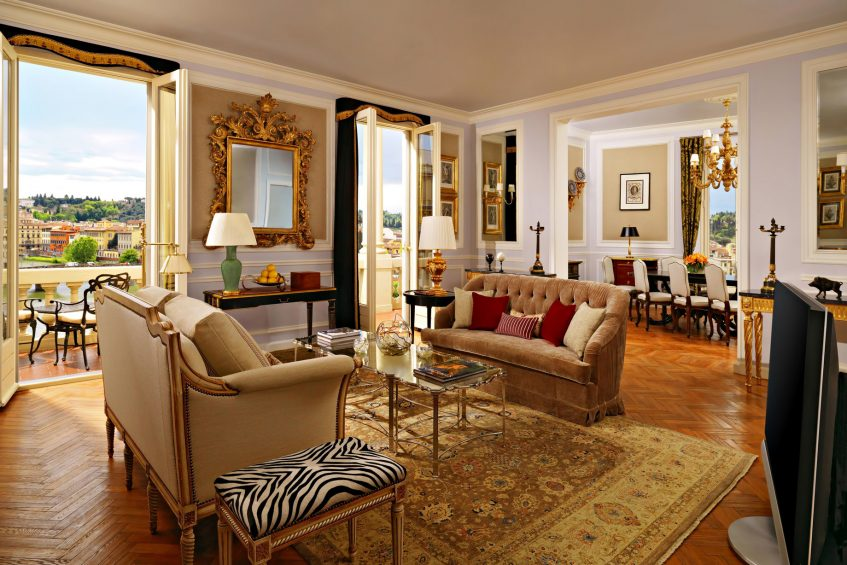 The St. Regis Florence Luxury Hotel - Florence, Italy - Presidential Da Vinci Suite Living Room