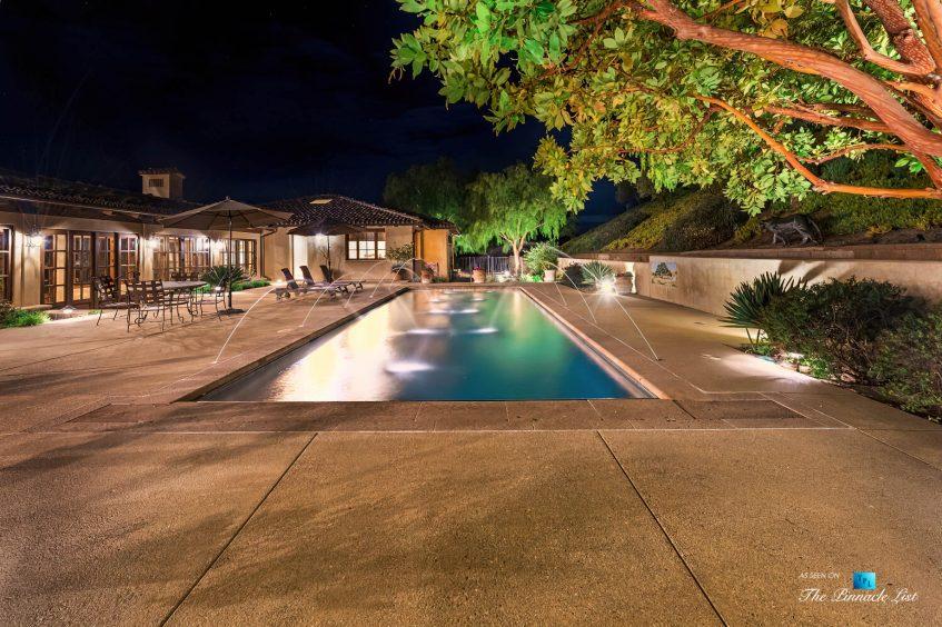 2667 Via De Los Ranchos, Los Olivos, CA, USA - Exterior Pool Night
