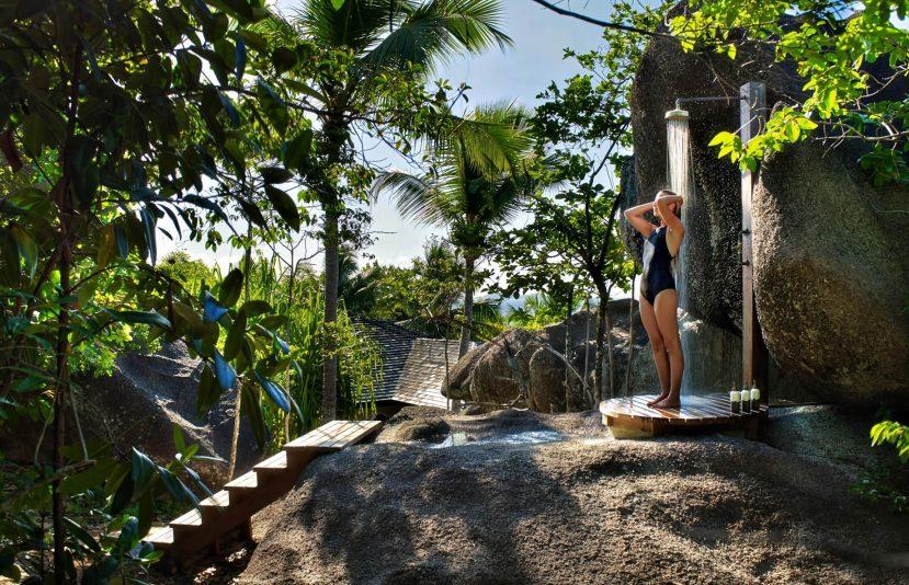 Six Senses Zil Pasyon Luxury Resort - Felicite Island, Seychelles - Pasyon Pool Villa Outdoor Shower