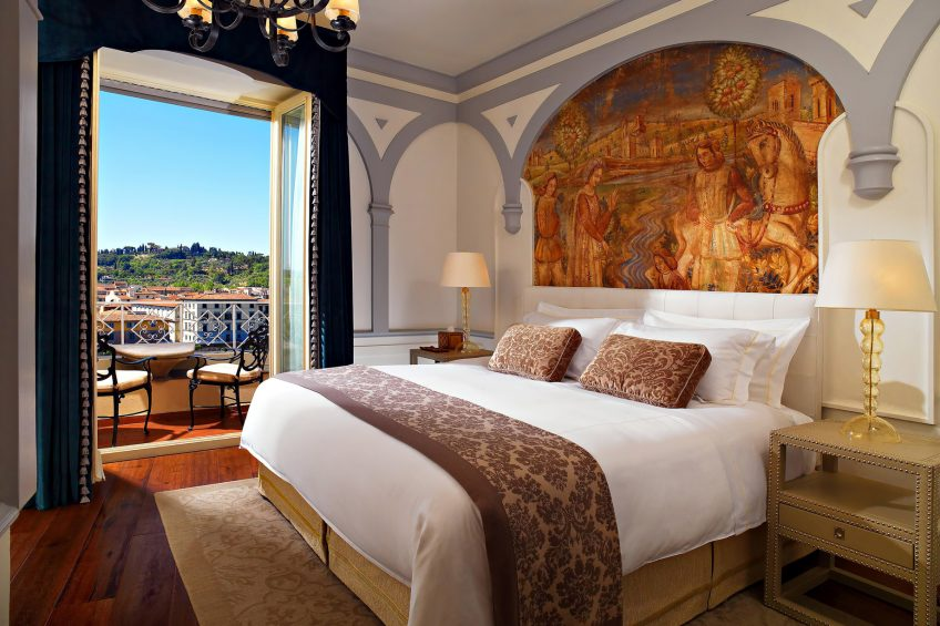 The St. Regis Florence Luxury Hotel - Florence, Italy - Guest Room - Grand Deluxe Suite Palazzo Vecchio Master Bedroom