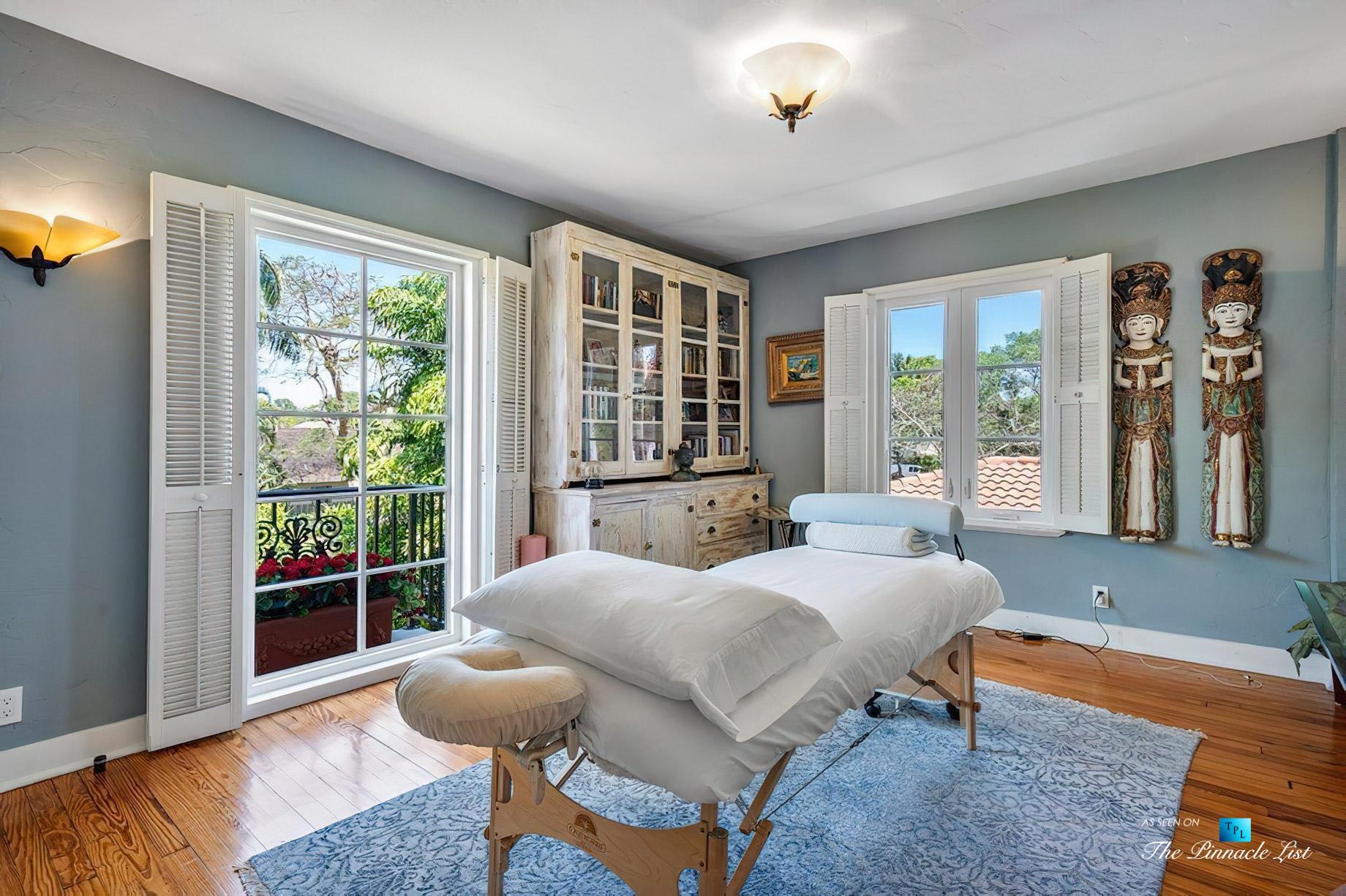 888 Oleander St, Boca Raton, FL, USA – Luxury Real Estate – Old Floresta Estate Home – Massage Room