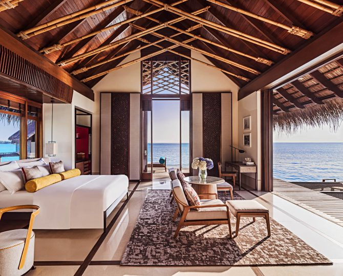 One&Only Reethi Rah Luxury Resort - North Male Atoll, Maldives - Overwater Villa Master Bedroom