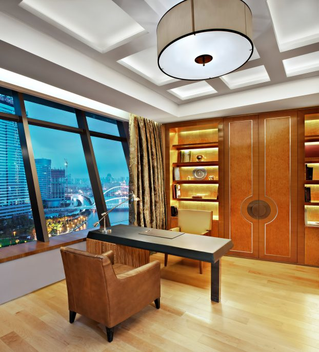 The St. Regis Tianjin Luxury Hotel - Tianjin, China - Riviera Restaurant - Presidential Suite Study Room
