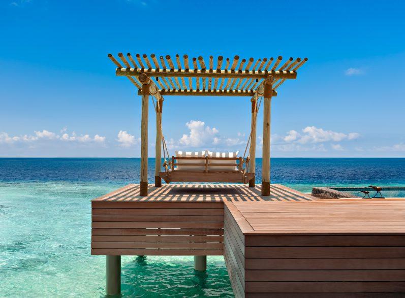 Waldorf Astoria Maldives Ithaafushi Luxury Resort - Ithaafushi Island, Maldives - Reef Overwater Villa Swing Bed