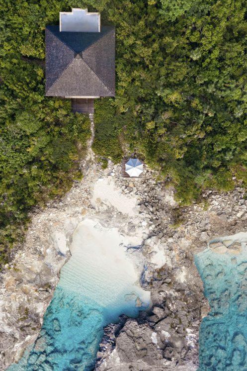 Amanyara Luxury Resort - Providenciales, Turks and Caicos Islands - Ocean Cove Pavilion Overhead Aerial