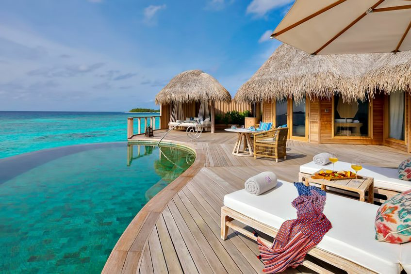 The Nautilus Maldives Luxury Resort - Thiladhoo Island, Maldives - Ocean Residence Infinity Pool Deck