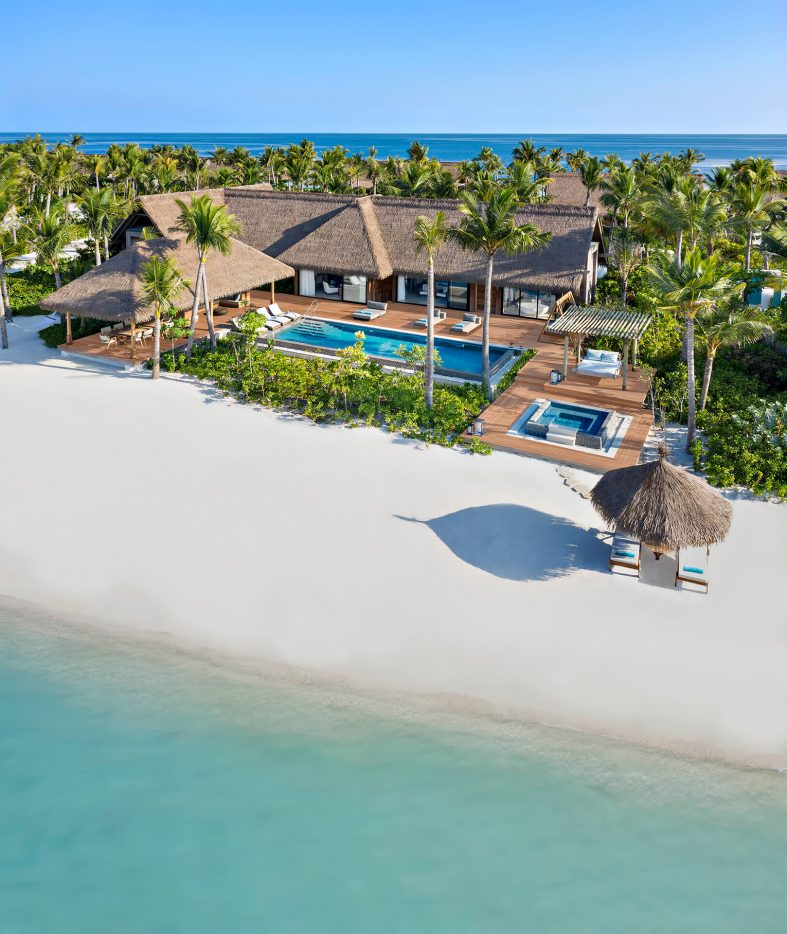Waldorf Astoria Maldives Ithaafushi Luxury Resort - Ithaafushi Island, Maldives - Beach Villa with Pool Two Bedroom Aerial