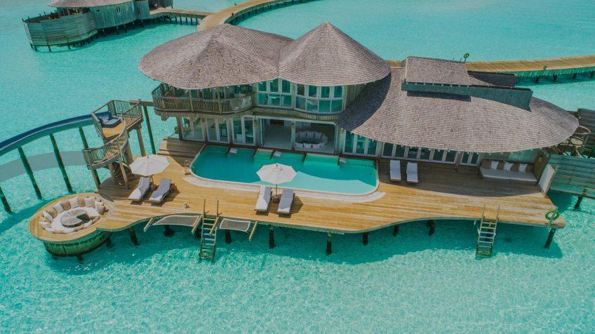 Soneva Jani Luxury Resort - Noonu Atoll, Medhufaru, Maldives - 3 Bedroom Water Reserve Villa with Slide Aerial