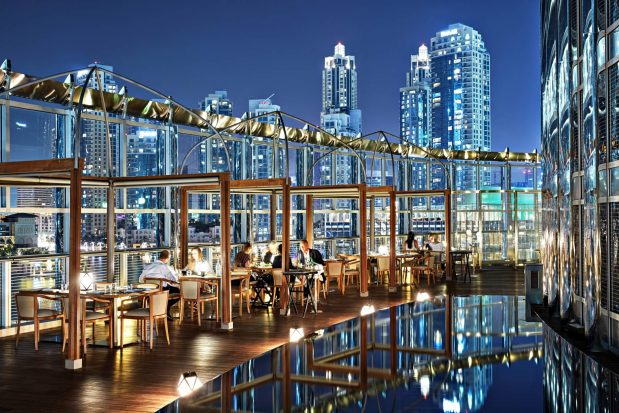 Armani Hotel Dubai - Burj Khalifa, Dubai, UAE - Armani Amal Exterior Private Deck