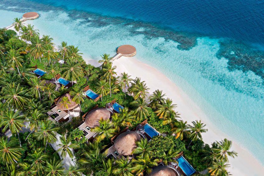 W Maldives Luxury Resort - Fesdu Island, Maldives - Tropical Beach Oasis Aerial View
