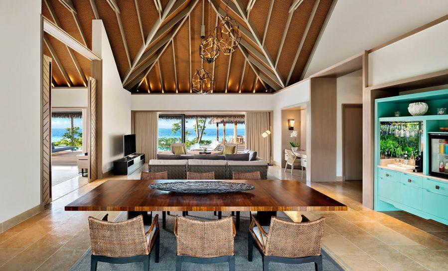 Waldorf Astoria Maldives Ithaafushi Luxury Resort - Ithaafushi Island, Maldives - Beach Villa with Pool Living Room
