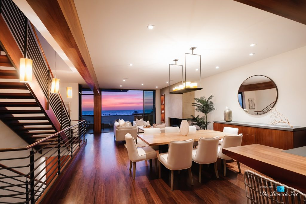 732 The Strand, Hermosa Beach, CA, USA - Dining and Living Room Oceanview Sunset