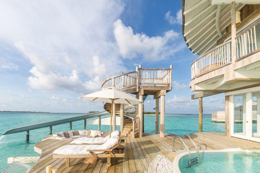 Soneva Jani Luxury Resort - Noonu Atoll, Medhufaru, Maldives - 3 Bedroom Water Reserve Villa with Slide Overwater Pool Deck