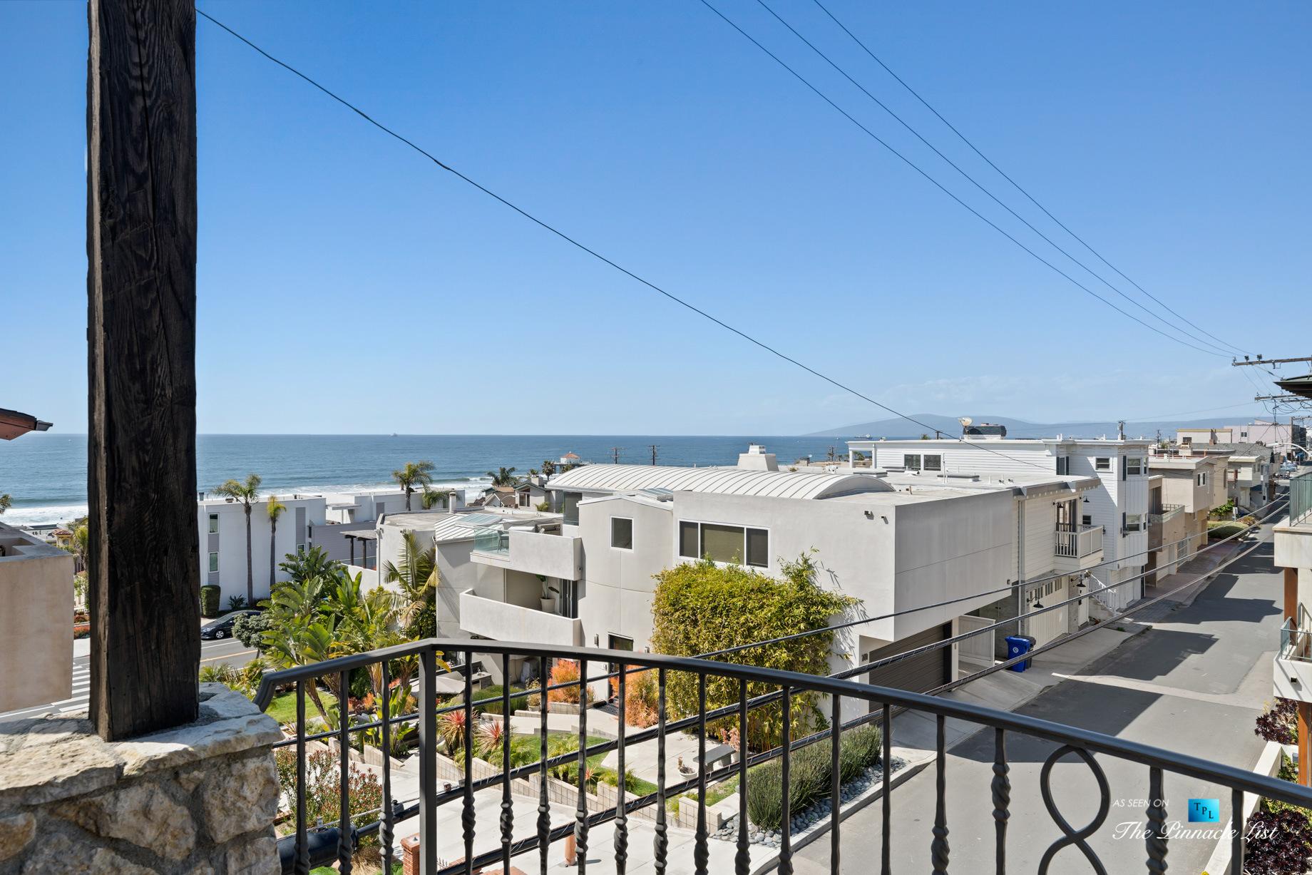 Authentic Luxury Coastal Villa – 216 7th St, Manhattan Beach, CA, USA – Exterior Deck Ocean View