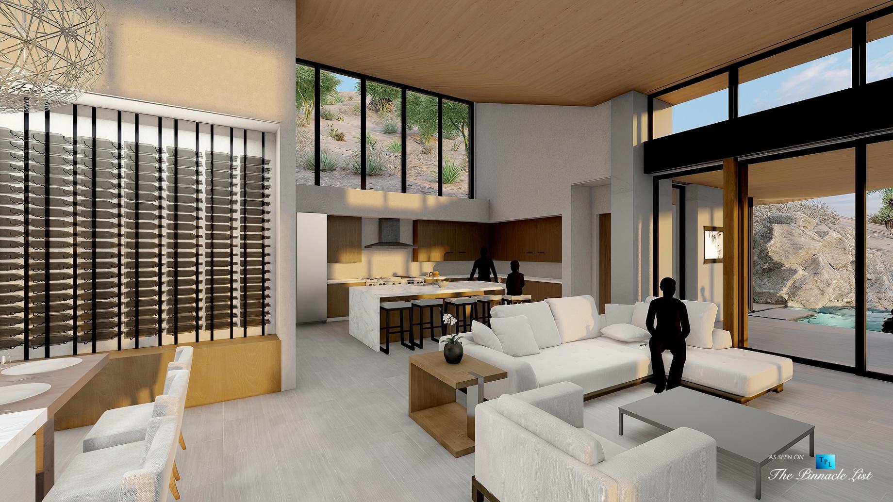 Mummy Mountain Luxury Residence – 5221 E Cheney Dr, Paradise Valley, AZ, USA – Living Room