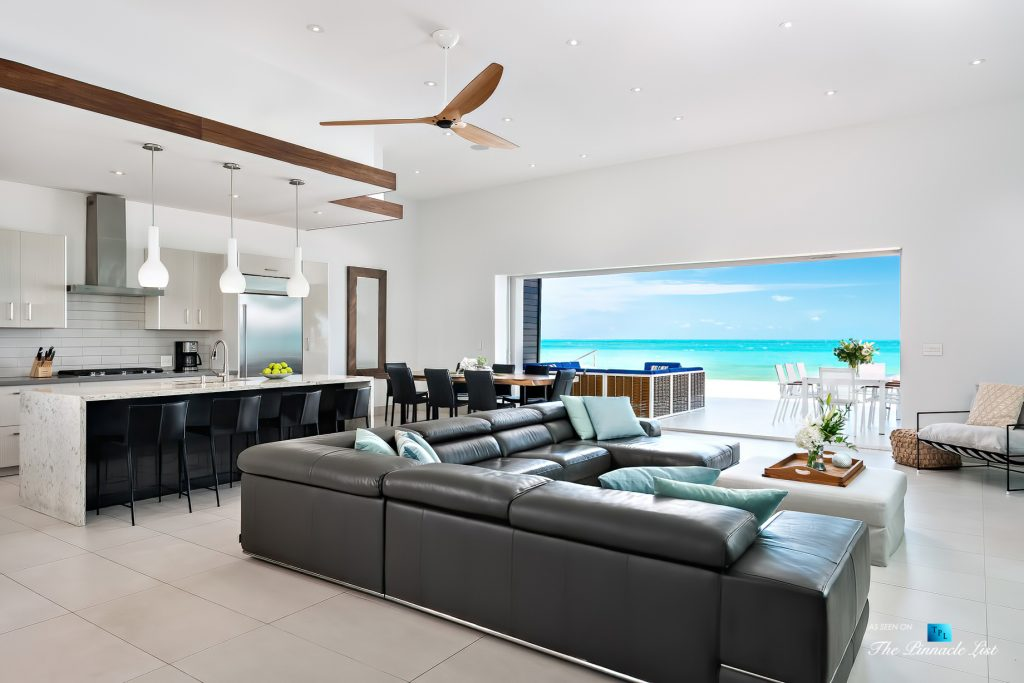 Tip of the Tail Luxury Villa - Providenciales, Turks and Caicos Islands - Living Room