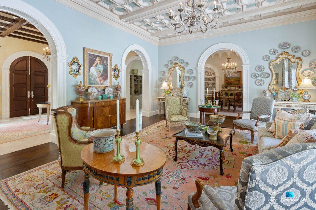 Tuxedo Park Mediterranean Estate - 439 Blackland Rd NW, Atlanta, GA, USA - Living Room
