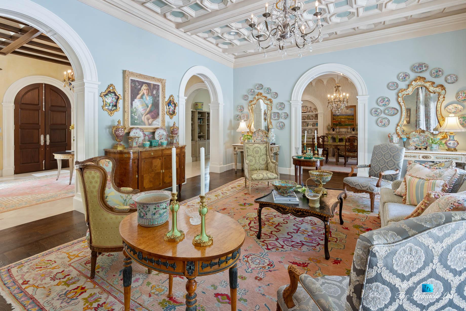 Tuxedo Park Mediterranean Estate – 439 Blackland Rd NW, Atlanta, GA, USA – Living Room
