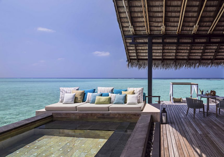 One&Only Reethi Rah Luxury Resort - North Male Atoll, Maldives - Overwater Villa Pool Deck Lounge