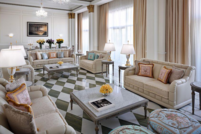 Palazzo Versace Dubai Hotel - Jaddaf Waterfront, Dubai, UAE - Imperial Suite Living Room