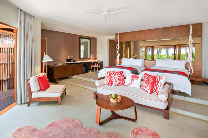W Maldives Luxury Resort - Fesdu Island, Maldives - Tropical Beach House Bedroom