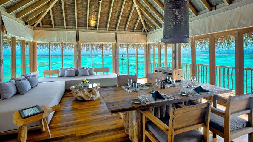Gili Lankanfushi Luxury Resort - North Male Atoll, Maldives - Family Villa with Pool Living Dining Area