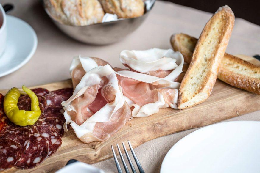 InterContinental Bordeaux Le Grand Hotel - Bordeaux, France - Prosciutto, Salami and Bread