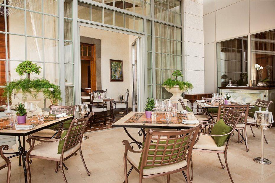 aThe St. Regis Abu Dhabi Luxury Hotel - Abu Dhabi, United Arab Emirates - Villa Toscana Restaurant Terrace