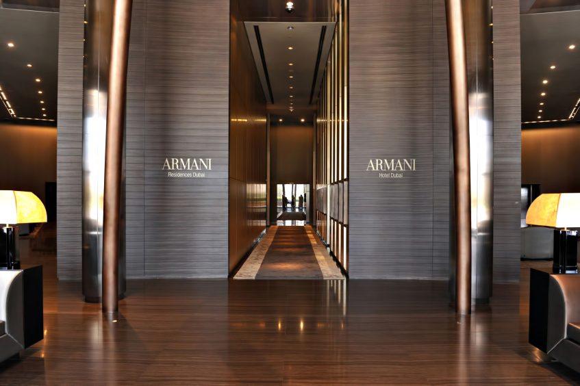 Armani Hotel Dubai - Burj Khalifa, Dubai, UAE - Armani Hotel Interior Entrance