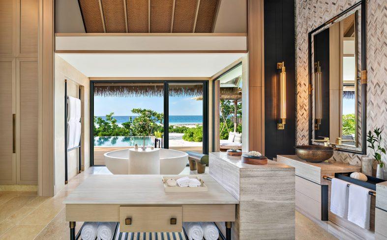 Waldorf Astoria Maldives Ithaafushi Luxury Resort - Ithaafushi Island, Maldives - Grand Beach Villa with Pool Master Bathroom