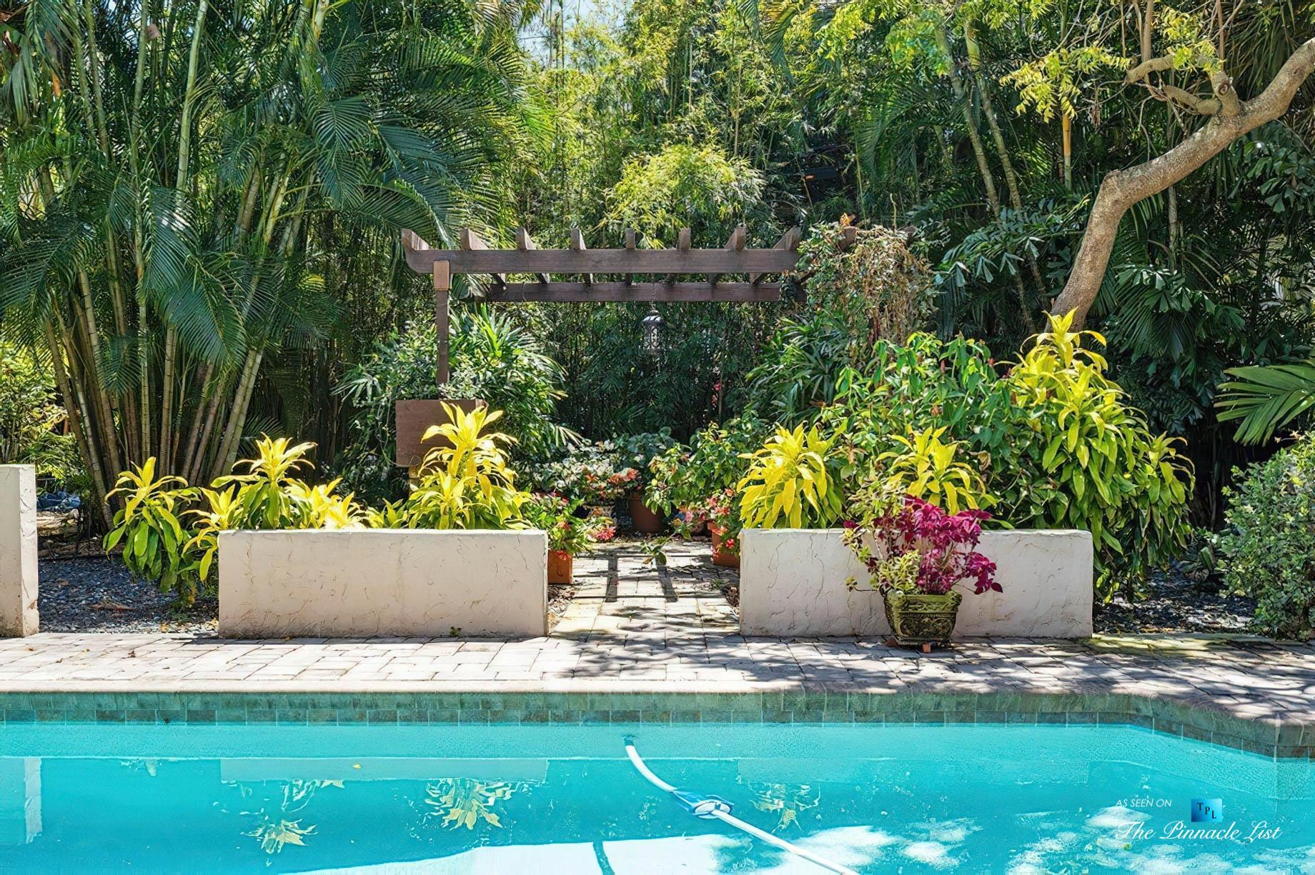 888 Oleander St, Boca Raton, FL, USA – Luxury Real Estate – Old Floresta Estate Home – Backyard Pool