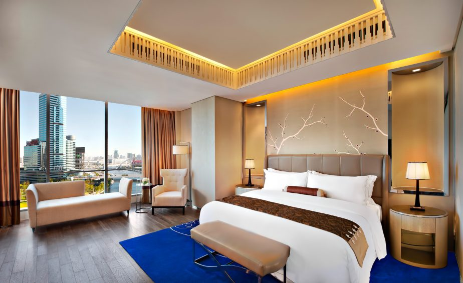 The St. Regis Tianjin Luxury Hotel - Tianjin, China - St. Regis Suite Bedroom