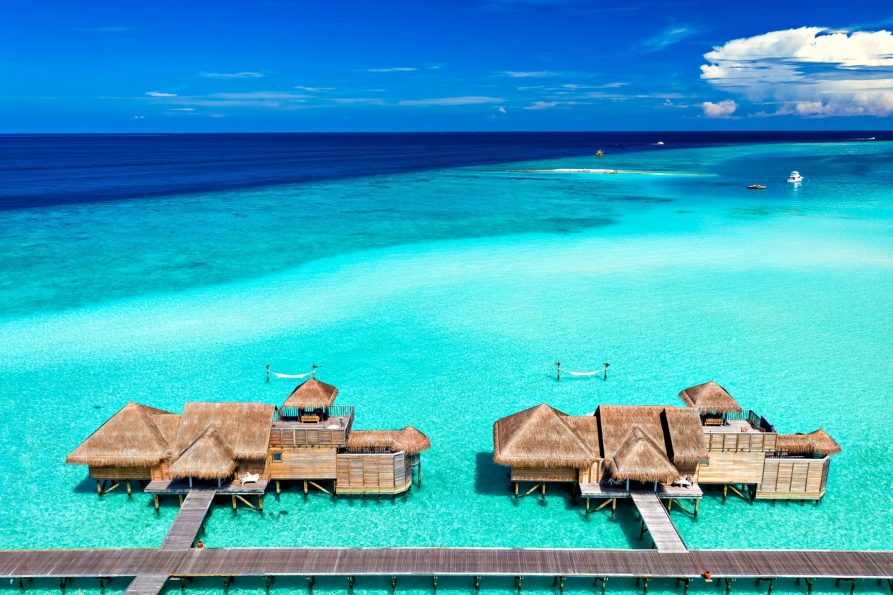 Gili Lankanfushi Luxury Resort - North Male Atoll, Maldives - Overwater Villa Aerial