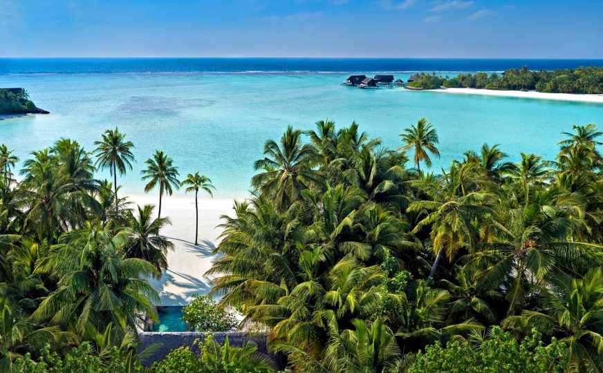 One&Only Reethi Rah Luxury Resort - North Male Atoll, Maldives - Beach Villa Aerial View