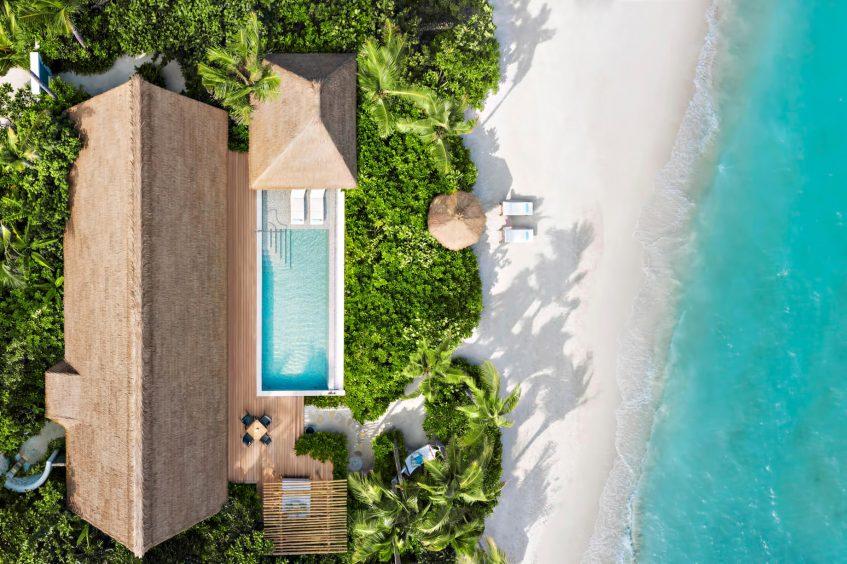 Waldorf Astoria Maldives Ithaafushi Luxury Resort - Ithaafushi Island, Maldives - Beach Villa Aerial