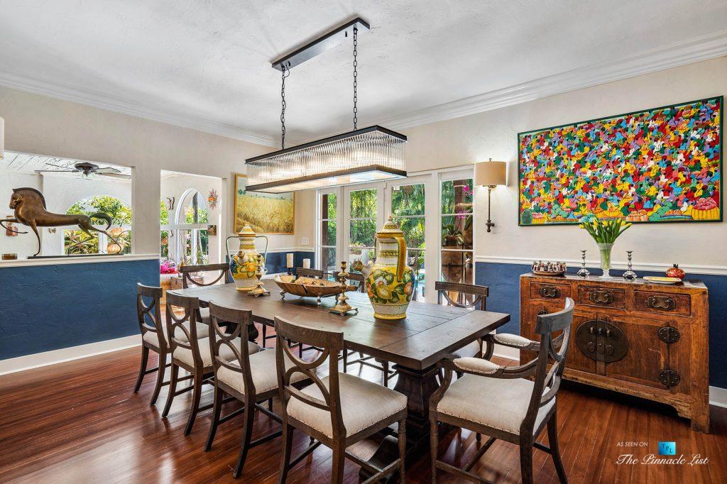 Addison Mizner Old Floresta Home – 888 Oleander St, Boca Raton, FL, USA - Dining Room