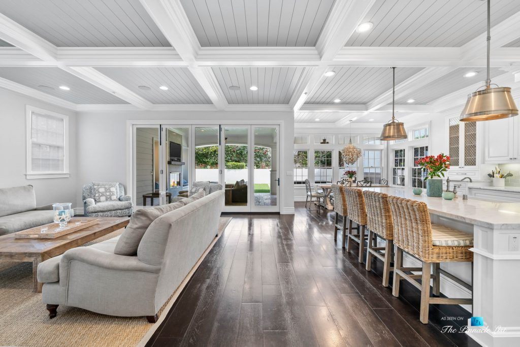 Authentic East Coast Cape Cod Style Home - 1412 Laurel Ave, Manhattan Beach, CA, USA - Family Room and Kitchen