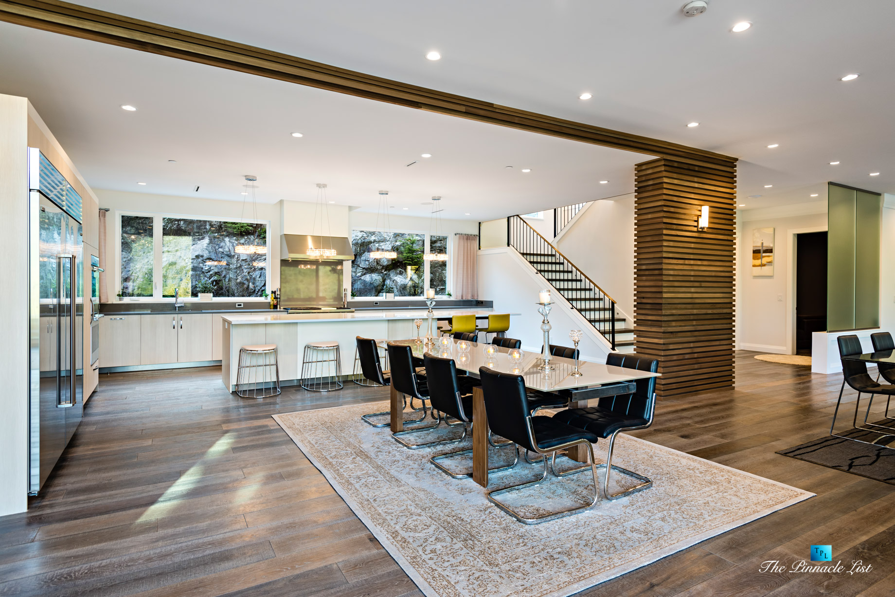 Modern West Coast Contemporary Home – 1083 Uplands Dr, Anmore, BC, Canada – Dining Room and Kitchen