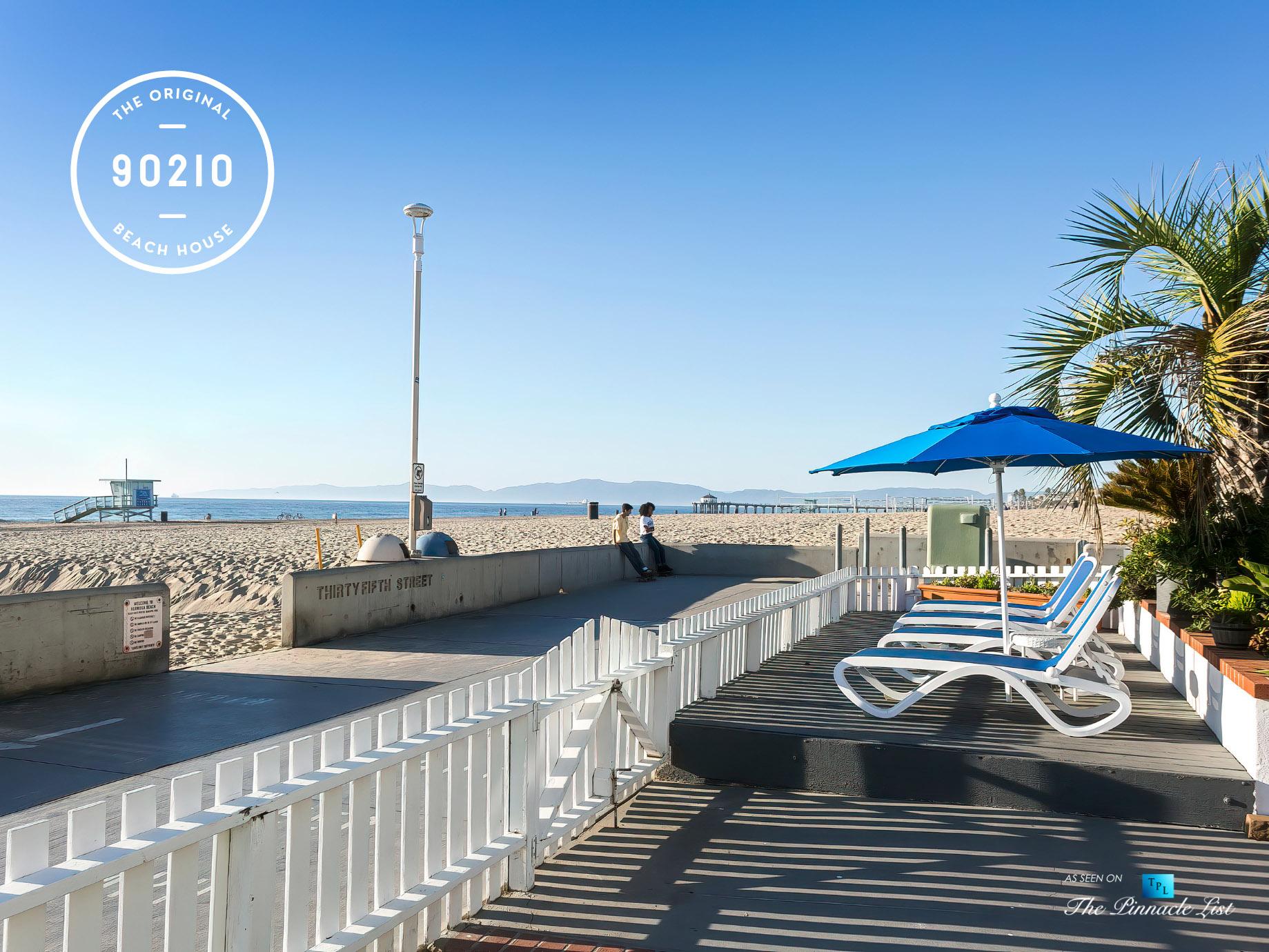 The Original 90210 Beach House - 3500 The Strand, Hermosa Beach, CA, USA - Beachfront Patio