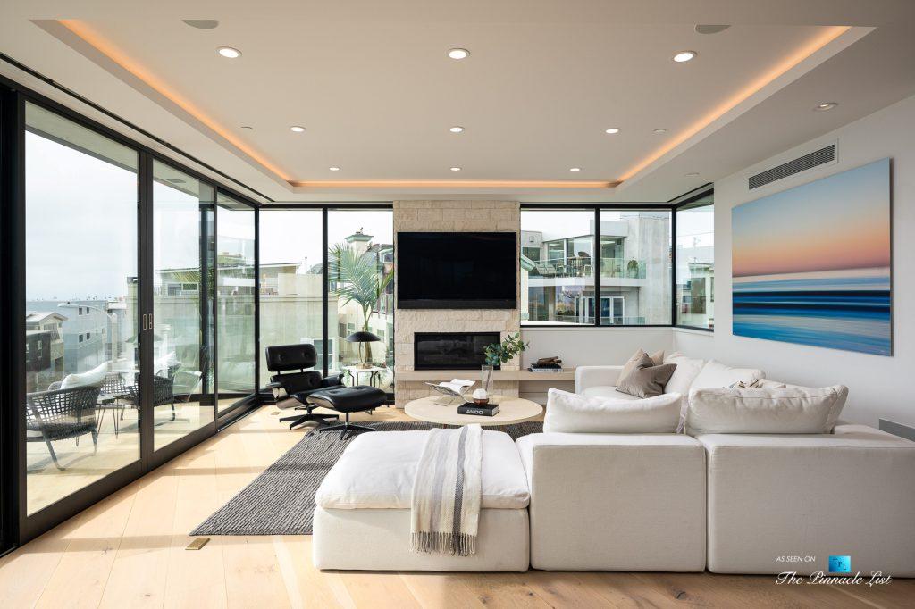 Ultra Modern Luxury Residence - 2016 Ocean Dr, Manhattan Beach, CA, USA - Living Room