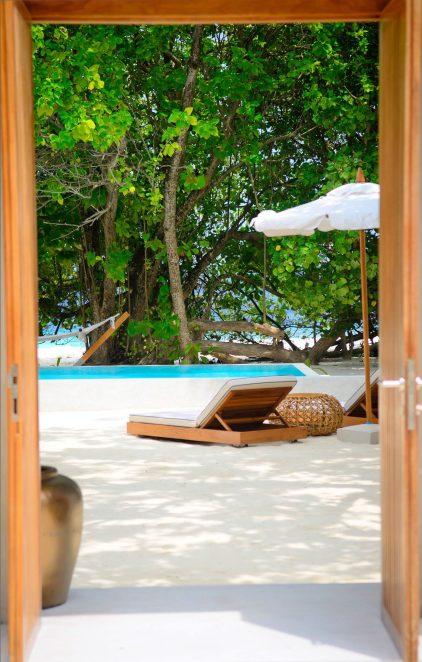 Amilla Fushi Luxury Resort and Residences - Baa Atoll, Maldives - Ocean Beach House Outdoor Poolside Lounge