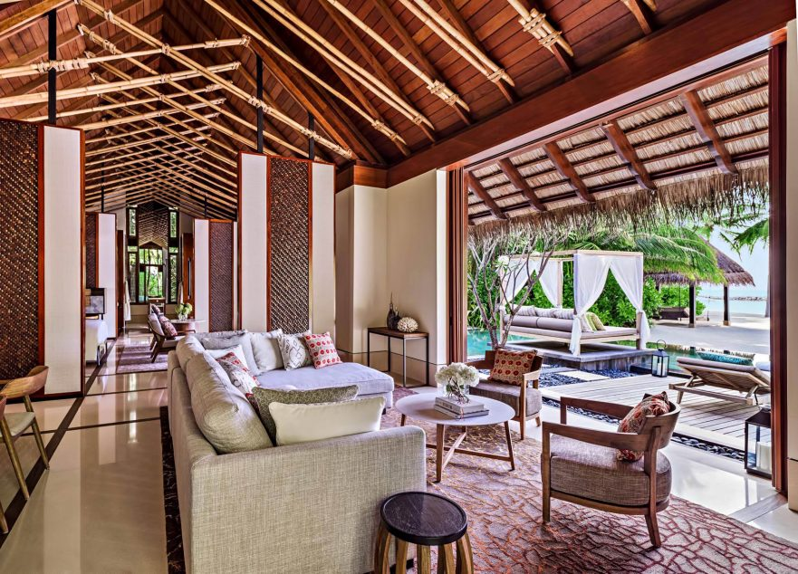 One&Only Reethi Rah Luxury Resort - North Male Atoll, Maldives - Beach Villa Living Room